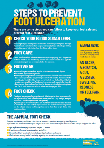 steps to prevent diabetic foot ulceration