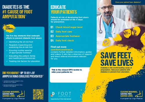healthcare professional advice on prevention of foot ulcers from diabetes