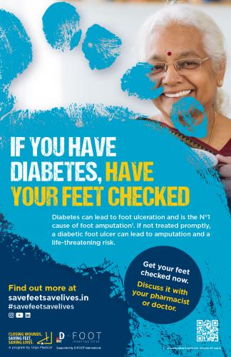 diabetes awareness poster for diabetic foot